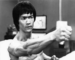 bruce lee fighting pose